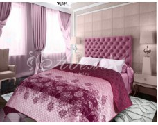 """Покрывало """"Розовый фламинго""""  160х200 ультрастеп трикот"""