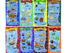 Набор вафельных полотенец НЕДЕЛЬКА (8 штук)