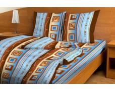 """КПБ 1,5 спальный из цветной бязи с одной наволочкой 70*70 """"Эконом"""""""